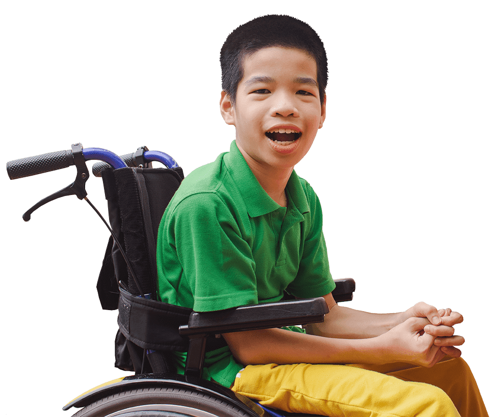 boy in wheel chair